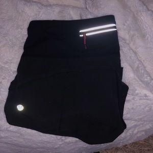 Black lululemon speed up shorts